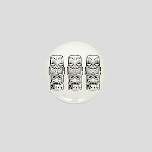 Three Tiki Statues Mini Button