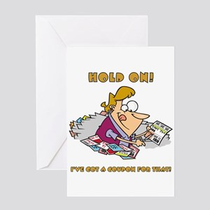 HOLD ON! Greeting Card