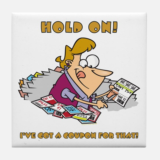 HOLD ON! Tile Coaster