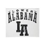 Lower Alabama Throw Blanket