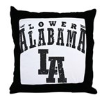 Lower Alabama Throw Pillow