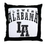 Lower Alabama Throw Pillow