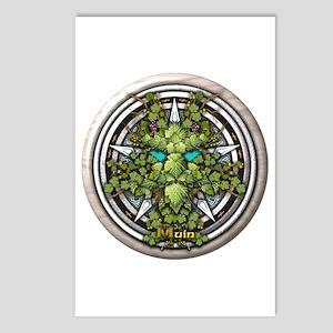 Vine Celtic Greenman Pentacle Postcards (Package o