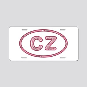 CZ Pink Aluminum License Plate