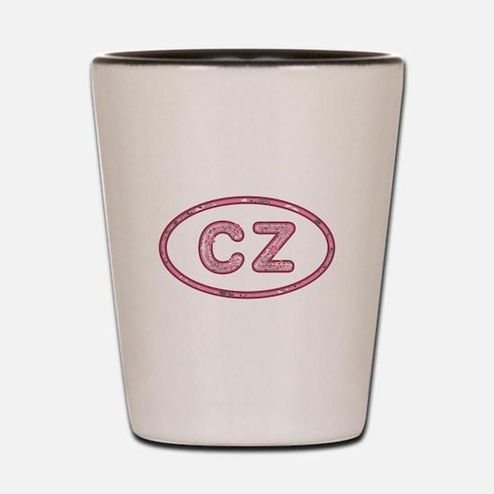 CZ Pink Shot Glass