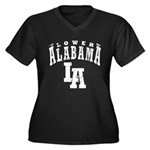 Lower Alabama Women's Plus Size V-Neck Dark T-Shir