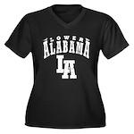 Lower Alabama Women's Plus Size V-Neck Dark T-Shir