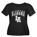 Lower Alabama Women's Plus Size Scoop Neck Dark T-