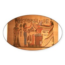 Ausar/Auset/Nbethet Oval Sticker