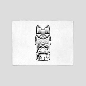 Tiki Statue 5'x7'Area Rug