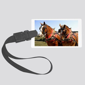 Belgian Horse Large Luggage Tag