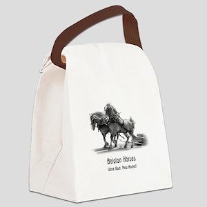 Belgian Horse Canvas Lunch Bag