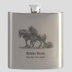 Belgian Horse Flask