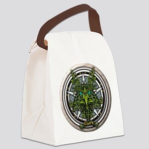 Ivy Celtic Greenman Pentacle Canvas Lunch Bag