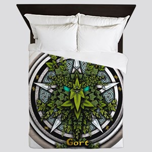 Ivy Celtic Greenman Pentacle Queen Duvet