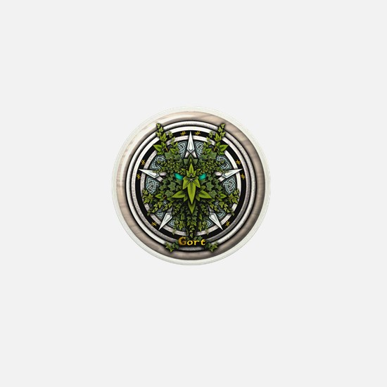 Ivy Celtic Greenman Pentacle Mini Button