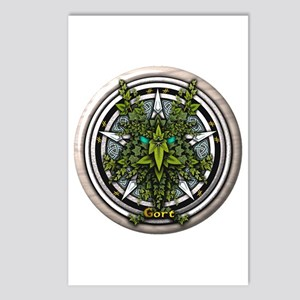 Ivy Celtic Greenman Pentacle Postcards (Package of