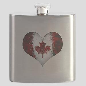 Canadian heart 2 Flask