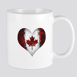 Canadian heart 2 Mug
