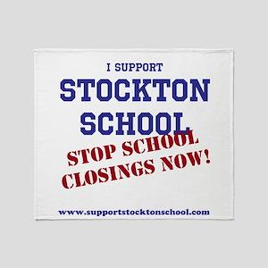 Support Stockton School Throw Blanket