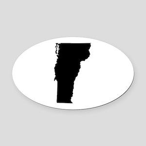 Black Oval Car Magnet