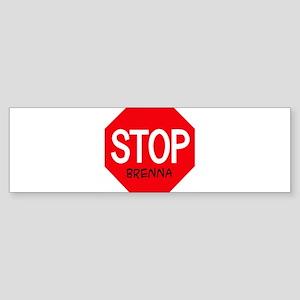 Stop Brenna Bumper Sticker