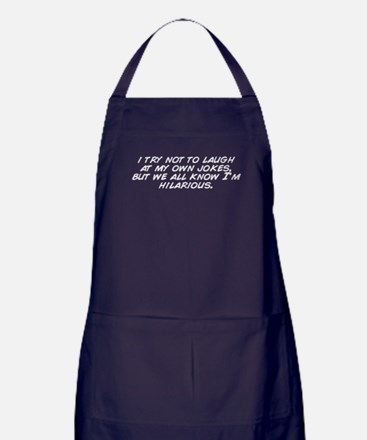 Cute I do my own stunts Apron (dark)