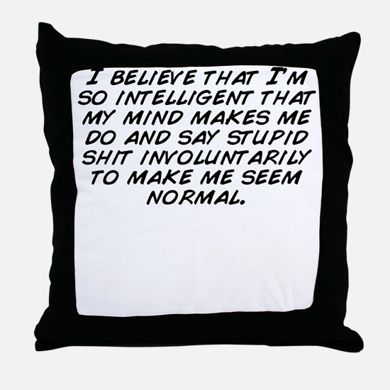 Cute Normal Throw Pillow