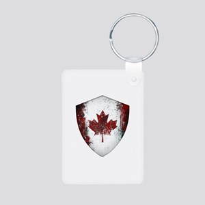 Canadian Graffiti Shield Aluminum Photo Keychain