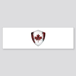 Canadian Graffiti Shield Sticker (Bumper)