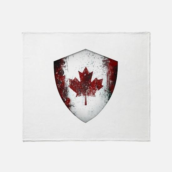 Canadian Graffiti Shield Throw Blanket