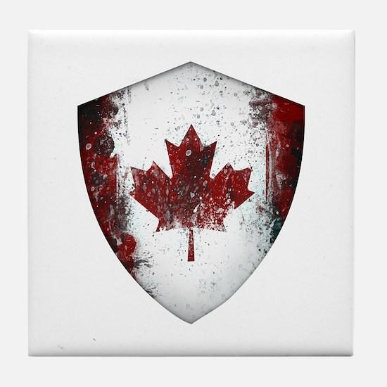 Canadian Graffiti Shield Tile Coaster
