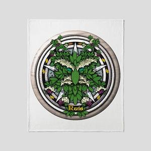 Elder Celtic Greenman Pentacle Throw Blanket