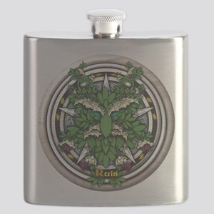 Elder Celtic Greenman Pentacle Flask