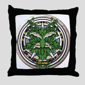 Elder Celtic Greenman Pentacle Throw Pillow