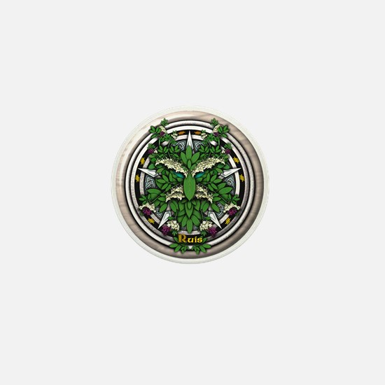Elder Celtic Greenman Pentacle Mini Button