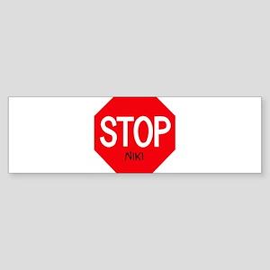 Stop Niki Bumper Sticker