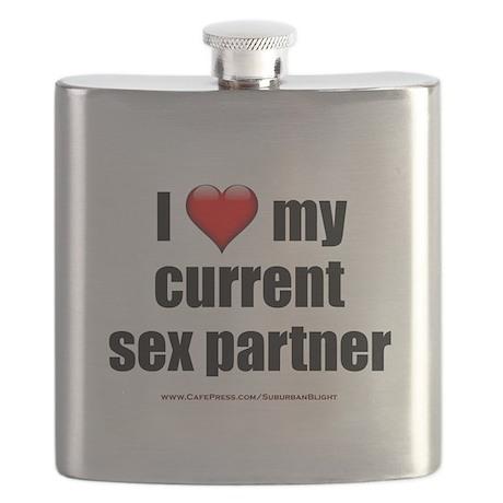 """""""Love Current Sex Partner"""" Flask"""
