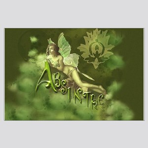 Absinthe Fairy Collage Large Poster