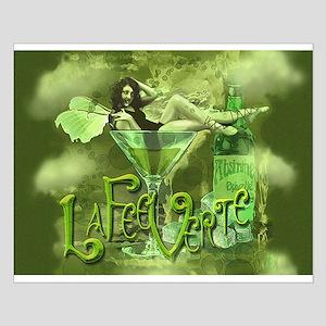 La Fee Verte In Glass Collage Small Poster