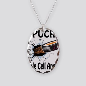 Puck Sickle Cell Anemia Necklace Oval Charm