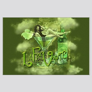 La Fee Verte In Glass Collage Large Poster