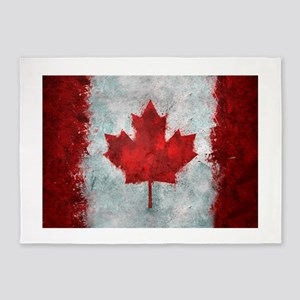 Canadian Abstract Poster 5'x7'Area Rug