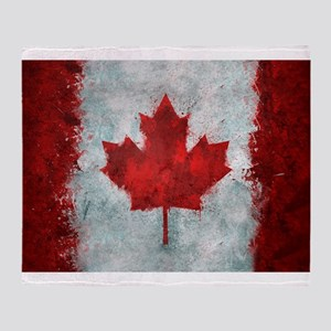 Canadian Abstract Poster Throw Blanket