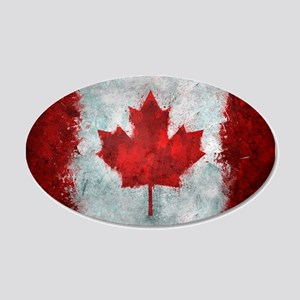 Canadian Abstract Poster 20x12 Oval Wall Decal