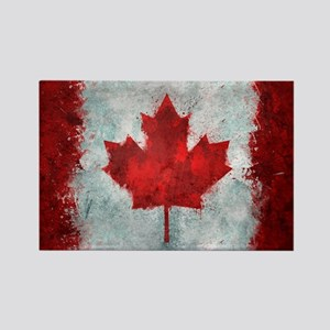Canadian Abstract Poster Rectangle Magnet