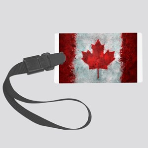 Canadian Abstract Poster Large Luggage Tag