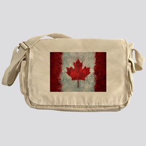 Canadian Abstract Poster Messenger Bag