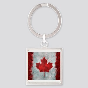 Canadian Abstract Poster Square Keychain