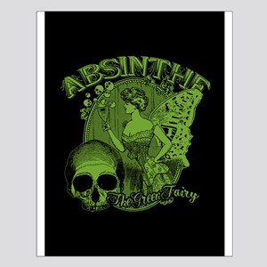 Absinthe Green Fairy Lady Collage Small Poster
